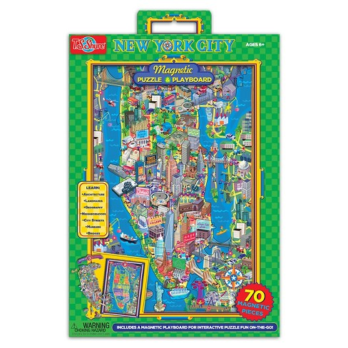 TS Shure New York City Magnetic Play board and Puzzle 70pc - image 1 of 3