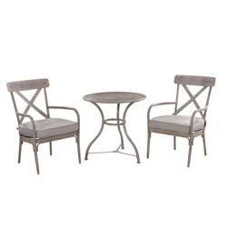 Liberty Garden Marquette 3 Piece Bistro Set with Classy Countryside Finish