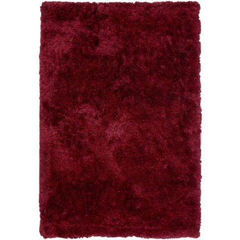 Abacasa Luxe Shag Red 5x8 Area Rug - Sam's International - image 1 of 1