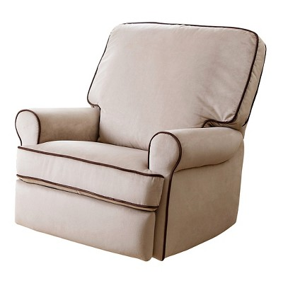 Bentley Fabric Swivel Glider Chair Recliner Chair   Sand   Abbyson Living
