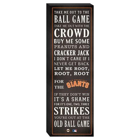 "San Francisco Giants ""Take Me Out To The Ballgame"" Canvas - image 1 of 1"