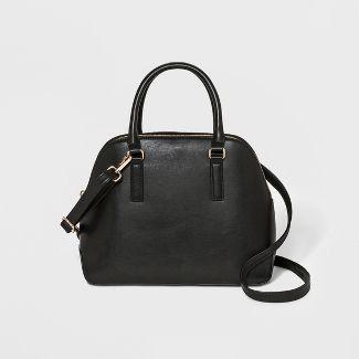 Dome Satchel Handbag - A New Day™ Midnight Black