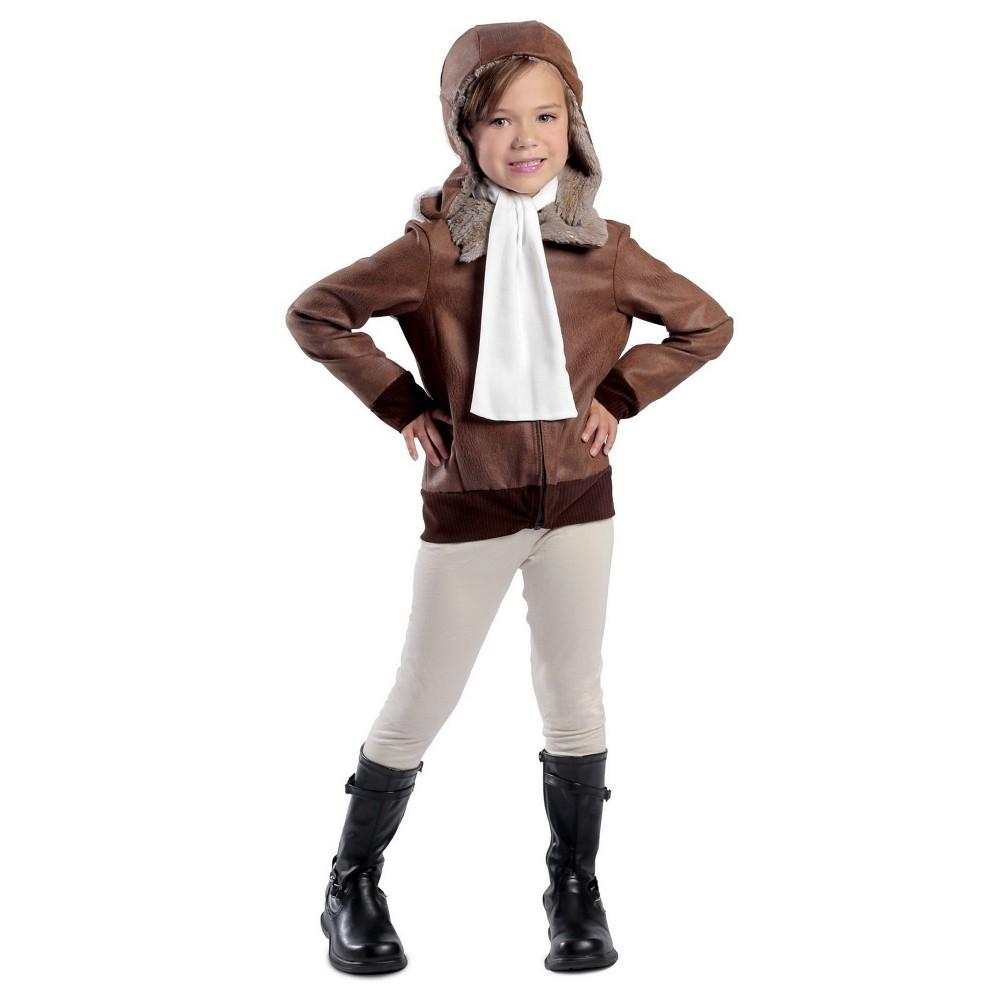 Girls' Amelia the Aviator Halloween Costume - Princess Paradise, Size: XS, Brown
