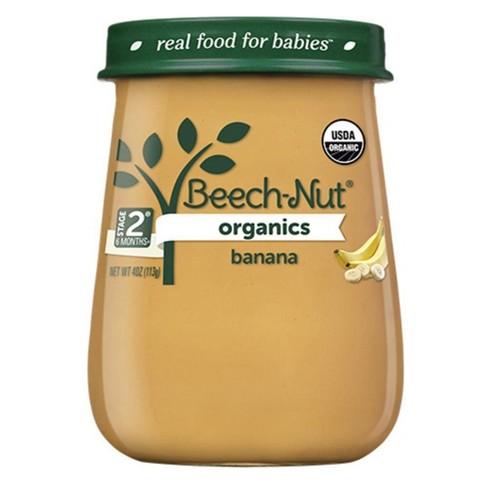 Beech-Nut Organics Bananas Baby Food Jar - 4oz - image 1 of 3