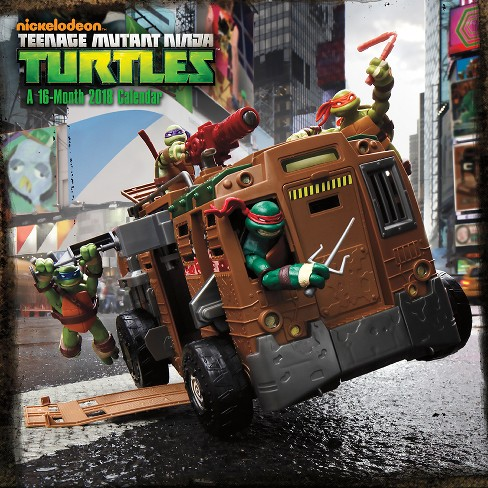 2018 Teenage Mutant Ninja Turtles Wall Calendar - Trends International - image 1 of 4