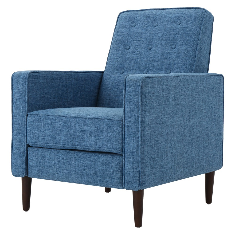 Mervynn Mid-Century Recliner - Muted Blue - Christopher Knight Home