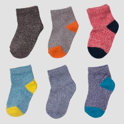 Toddler Boys' 6pk So-Soft Low Cut Socks - Cat & Jack™ Navy 2T-3T
