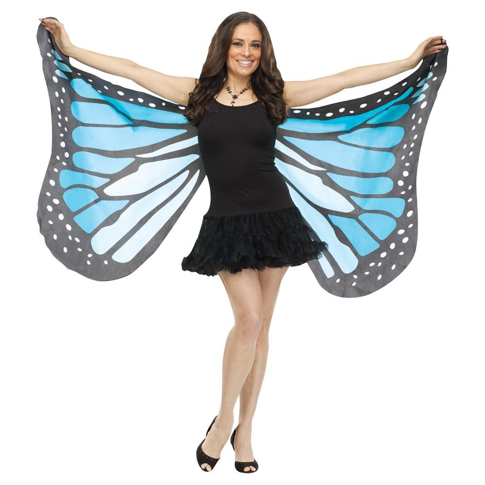 Soft Butterfly Adult Wings Blue, Women's
