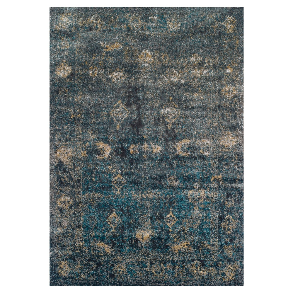 9'6X13' Blue Gray Damask Woven Area Rug - Addison Rugs