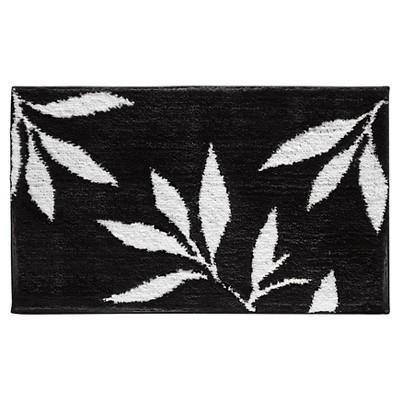 Microfiber Rectangular Rug Black/White - iDESIGN