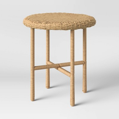 Tucker Wicker Patio Accent Table - Threshold™ designed with Studio McGee