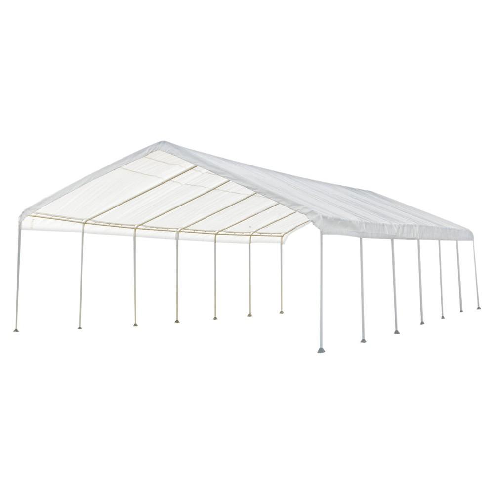 Super Max 18' X 40' Premium Canopy - White - Shelterlogic