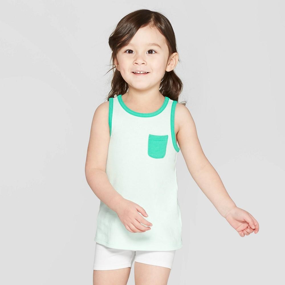 Toddler Girls' Tank Top - Cat & Jack Green 5T