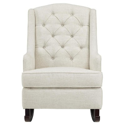 Baby Relax Zoe Tufted Rocking Chair - White