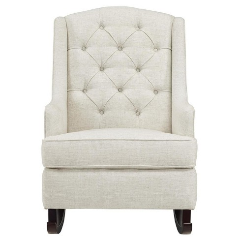 Awesome Baby Relax Zoe Tufted Rocking Chair White Squirreltailoven Fun Painted Chair Ideas Images Squirreltailovenorg
