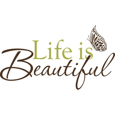 WallPops Life Is Beautiful Wall Decal - image 1 of 2