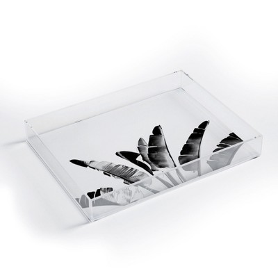 Gale Switzer Traveler Palm Bw Acrylic Tray - Deny Designs
