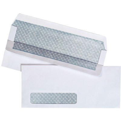"""MyOfficeInnovations Self Seal Security Tinted Bus.Envelope 4 1/8"""" x 9 1/2"""" White 500/BX 511290"""