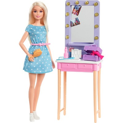 "Barbie: Big City, Big Dreams Barbie ""Malibu"" Roberts Doll & Dressing Room Playset"