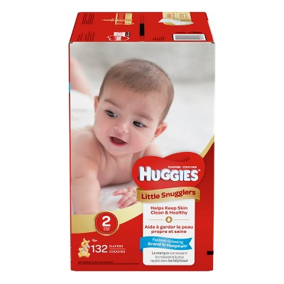 Huggies Little Snugglers Diapers - Size 2 (132ct)