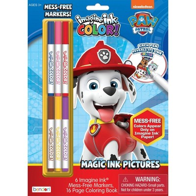 Paw Patrol Imagine Ink Coloring Book with Mess-Free Magic Ink Markers - Bendon