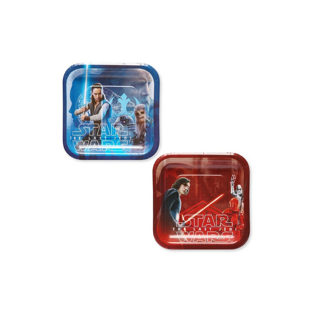 40ct Star Wars: The Last Jedi Square Dessert Plates
