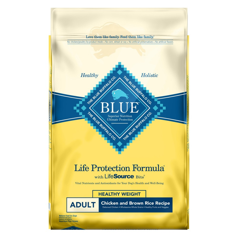 Blue Buffalo Life Protection Formula Healthy Weight Chicken & Brown Rice - Dry Dog Food - 24lb Bags