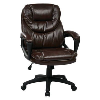 Faux Leather Managers Chair with Padded Arms - OSP Home Furnishings