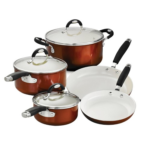 Tramontina Style Ceramica Metallic Copper 8-Piece Cookware Set - image 1 of 6