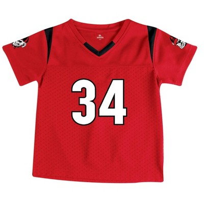 NCAA Georgia Bulldogs Toddler Boys' Short Sleeve Jersey
