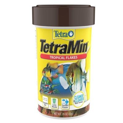 Tetra Min Tropical Flakes Dry Fish Food - 0.7oz