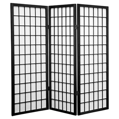 4 ft. Tall Window Pane Shoji Screen 3 Panels - Oriental Furniture