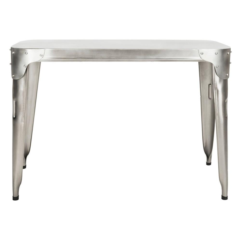 Classic Iron Console Table Silver - Safavieh
