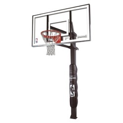 "Spalding NBA 70"" Glass in Ground Basketball Hoop"