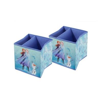 """9"""" Set of 2 Frozen 2 Soft Storage Bins"""