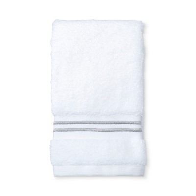 Microcotton Spa Hand Towel Gray Stripe - Fieldcrest®