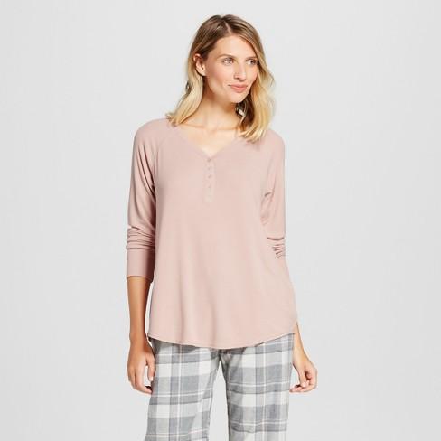 Women's Total Comfort Rib Henley Pajama Top