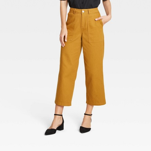 Women's Mid-Rise Regular Fit Wide Leg Pants - Who What Wear™ - image 1 of 3