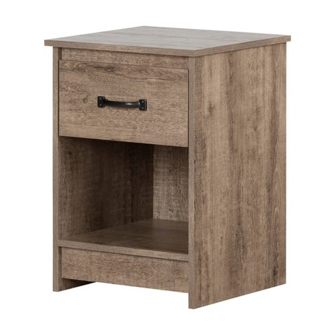 Tassio 1 Drawer Nightstand Weathered Oak - South Shore - image 1 of 4