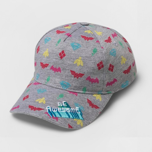Kids' DC Comics 'Be Awesome' Baseball Cap - Gray - image 1 of 1