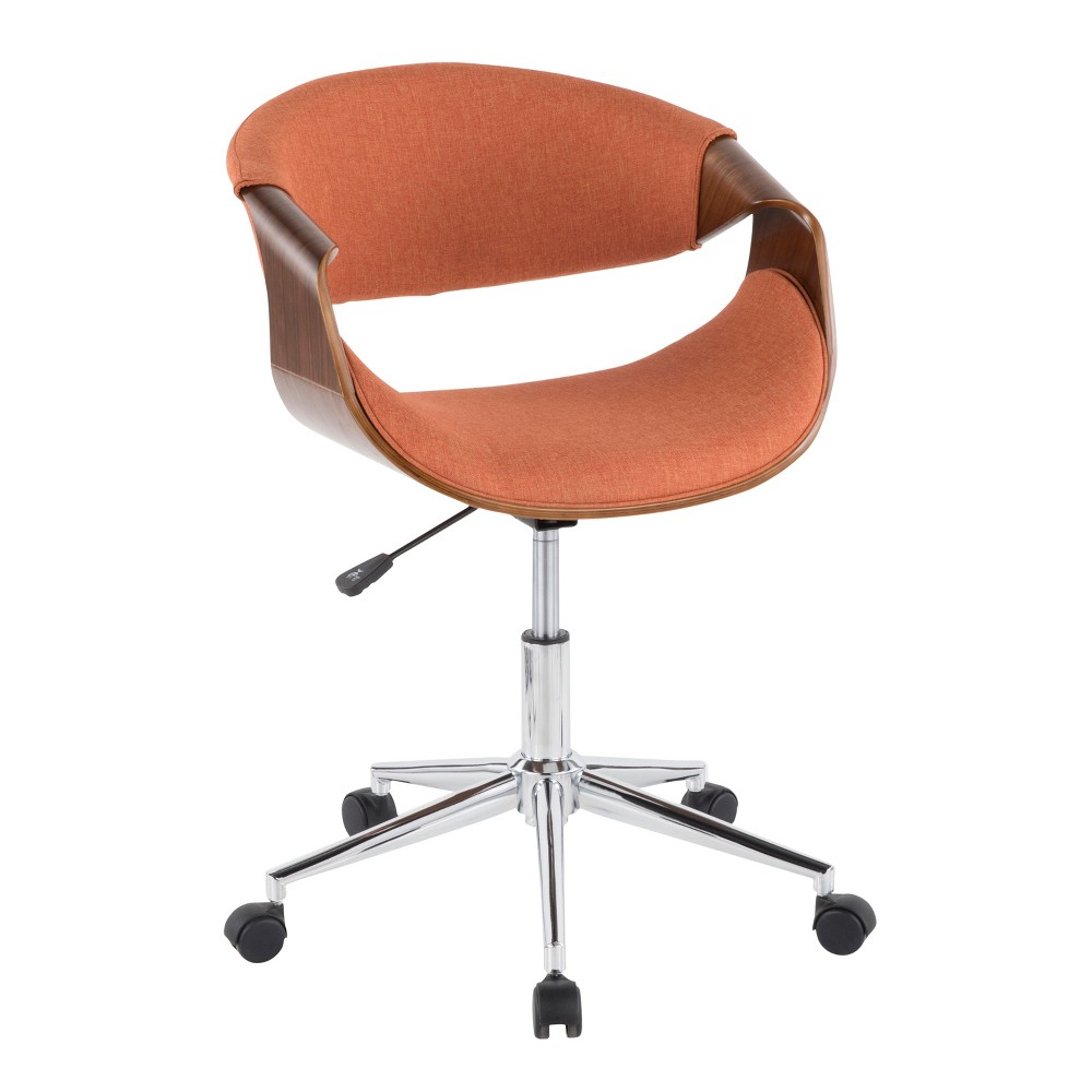 Curvo Mid Century Modern Office Chair Orange Lumisource