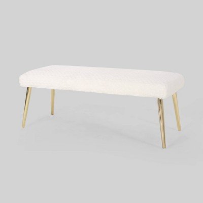 Capernaum Faux Fur Bench - Christopher Knight Home
