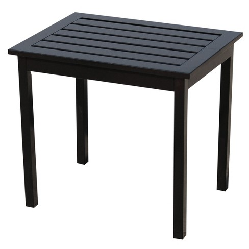 Belize Rectangular Hardwood End Table - Black - Aiden Lane - image 1 of 2