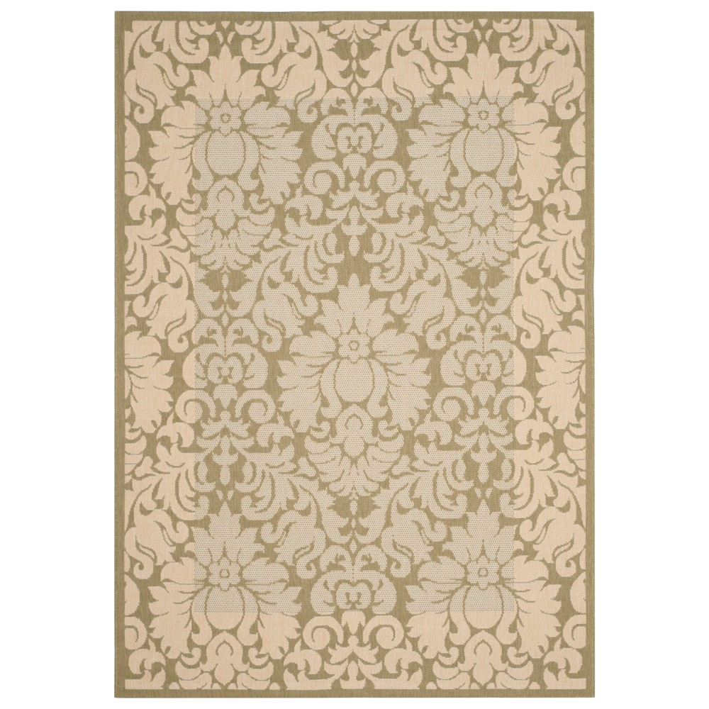 Violetta Rectangle 2' X 3'7 Outdoor Rug - Olive / Natural - Safavieh, Green/Natural