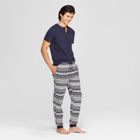 Men's Elevated Pajama Set - Goodfellow & Co™ Navy S - image 1 of 2