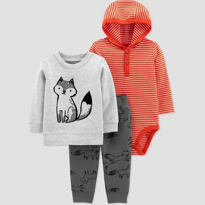 Baby Boys' Fox Top & Bottom Set - Just One You® made by carter's Orange 3M