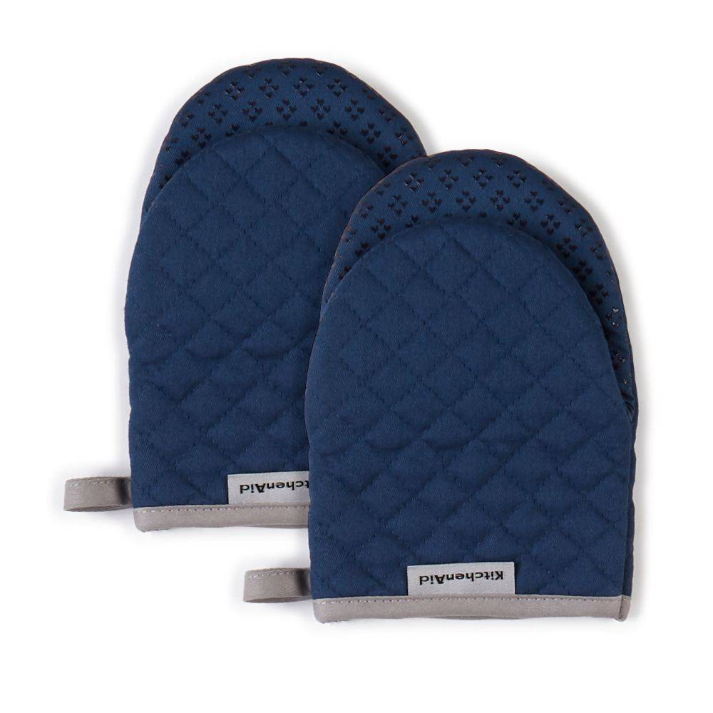 "Image of ""KitchenAid 2pk 5.5""""X8"""" Asteroid Mini Mitts Navy"""