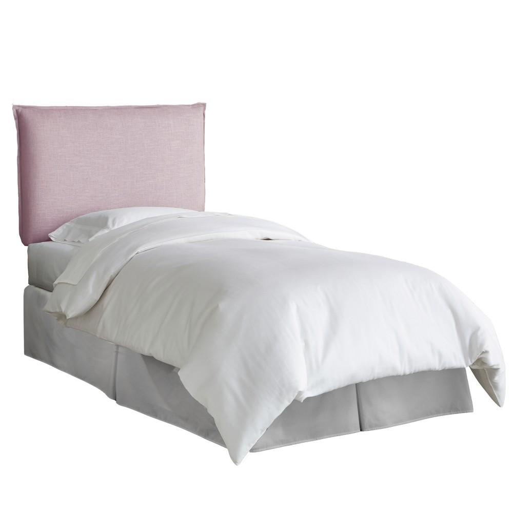 Kid's French Seam Linen Upholstered Headboard Full Linen Smokey Quartz - Pillowfort