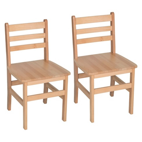 Set of 2 Atlas Classroom Chair Natural - Regency - image 1 of 4