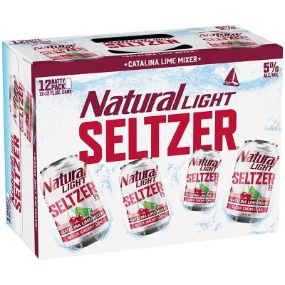 Natural Light Seltzer Catalina Lime Mixer - 12pk/12 fl oz Cans